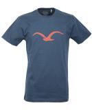 Cleptomanicx Möwe T-Shirt Basic Blue Wing XL