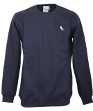 Cleptomanicx Embro Gull Crewneck Pullover Dark Navy