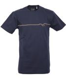 Cleptomanicx Möwe Pufflines T-Shirt Dark Navy