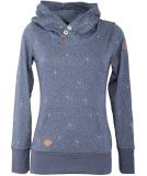Ragwear Chelsea Dots Hoodie Damen Sweatshirt Indigo