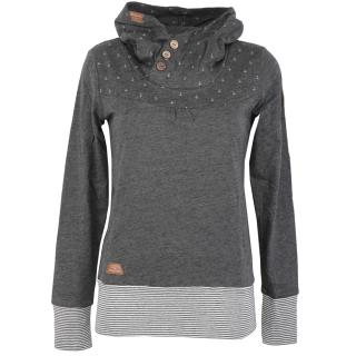 Ragwear Lucie Sweatshirt Hoody Pullover Dark Grey L