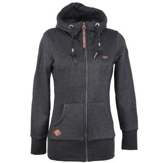 Ragwear Neska Zip Sweatjacke Damen Zipper Black M