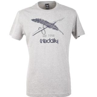 Iriedaily Harpoon Flag Tee T-Shirt Grey Melange