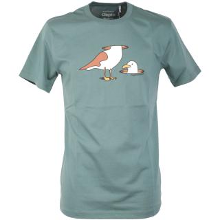 Cleptomanicx Lost Head Basic T-Shirt North Atlantic