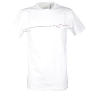 Cleptomanicx Möwe Pufflines T-Shirt White M