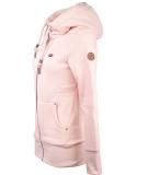 Ragwear Neska Zip Sweatjacke Damen Zipper Light Pink