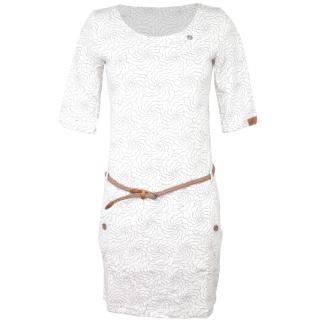 Ragwear Tanya Flowers Kleid White XL