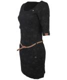 Ragwear Tanya Flowers Kleid Black