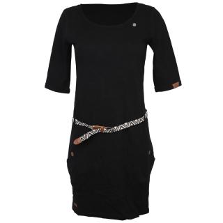 Ragwear Tanya Solid Kleid Black L