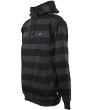 Cleptomanicx Hooded Stripe Pullover Blue Graphite