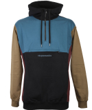 Cleptomanicx Hooded Block Pullover Black