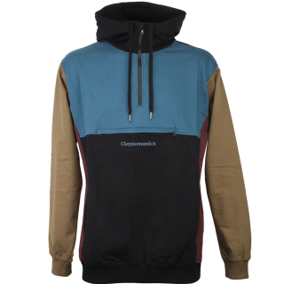 Cleptomanicx Hooded Block Pullover Black S