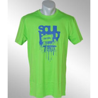 Irie Daily Soul Food Tee Shirt neon green L