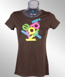 Iriedaily Anagram Girl Tee Shirt chocolate