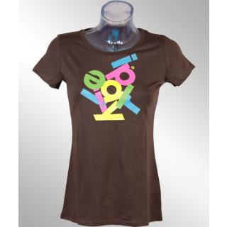 Iriedaily Anagram Girl Tee Shirt chocolate  S