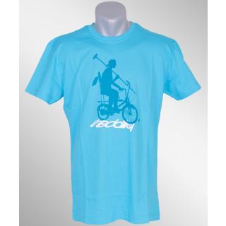 Iriedaily Shadow Bike Polo Tee hawaii blue