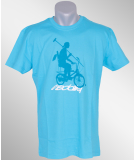 Iriedaily Shadow Bike Polo Tee hawaii blue