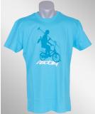 Iriedaily Shadow Bike Polo Tee hawaii blue L