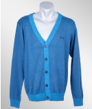 Iriedaily Irie Patch Cardigan blue mel.