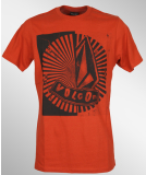 Volcom Pistol Collision SS T-Shirt Orange Red M