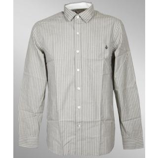 Volcom Ex Factor Stripe Hemd Longshirt Black