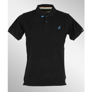 Jn Joy Smart Polo Shirt Black Blue S