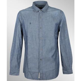 Volcom Elvis Hemd Longshirt Used Blue