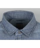 Volcom Elvis Hemd Longshirt Used Blue S